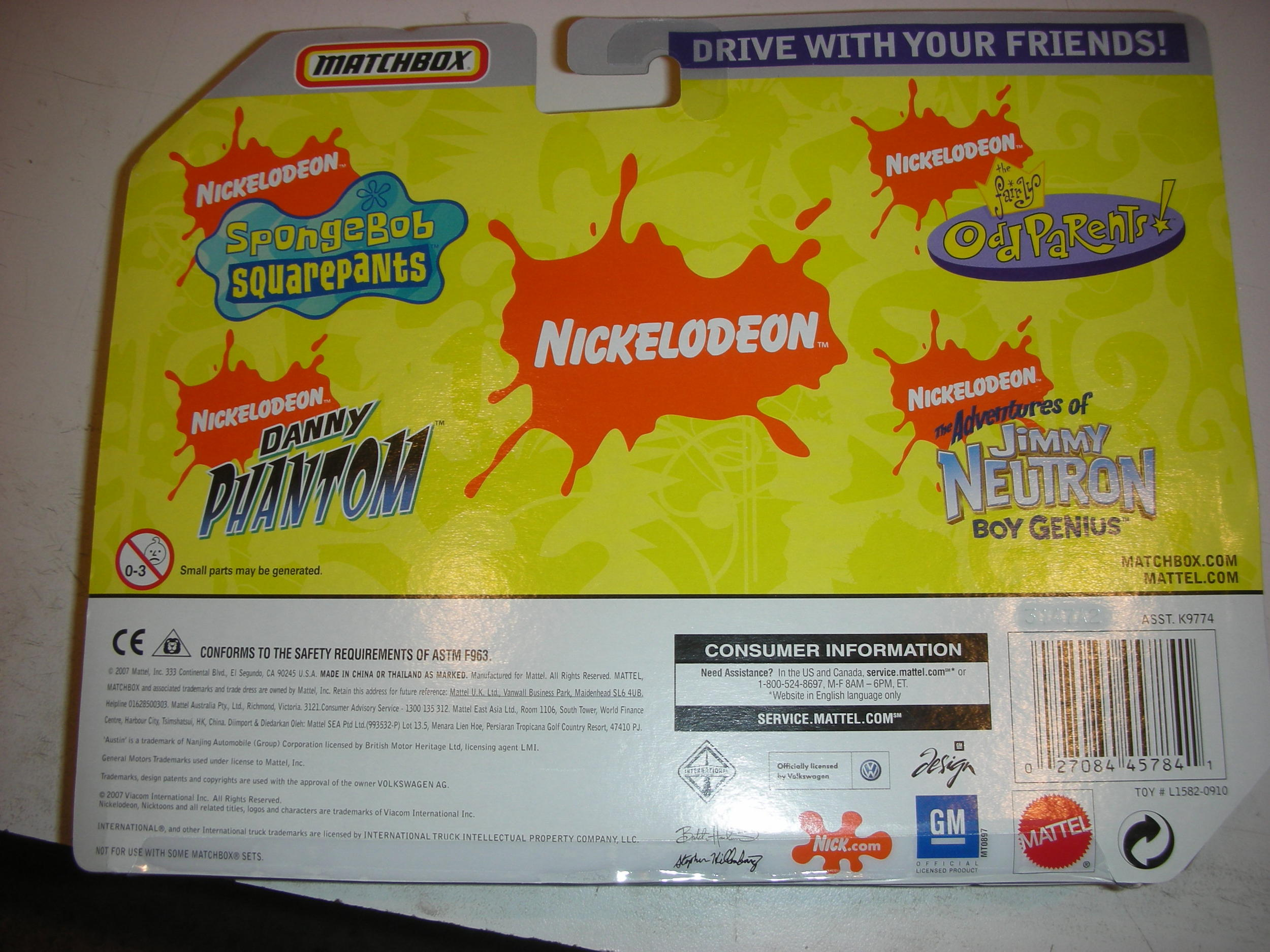Matchbox Nickelodeon 5 Pack Jimmy Neutron Ssr Chevy Ssr