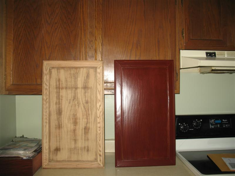 amazing Restaining Kitchen Cabinets Before And After #8: Kitchen before and after (gel staining of cabinets). Click image for larger  versionName:IMG 8859 (Medium).JPGViews:8991Size .