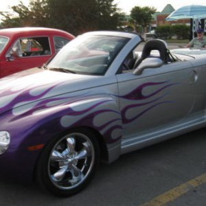 2005 SSR Ricochet Silver with purple flames.