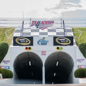 Talladega going into the tunnel 5-2016