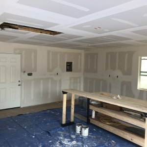 Interior being finished.
